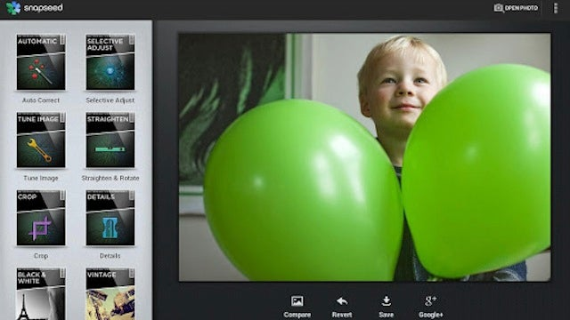 Most Popular Photo Filter App: Snapseed