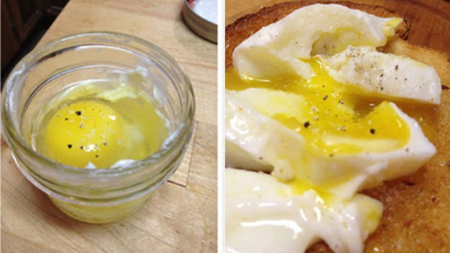 Poach Eggs Perfectly in a Mason Jar