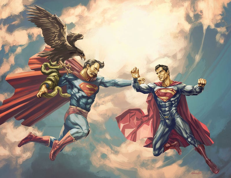 Who would win in a fight between Superman and Nietzsche's Übermensch?