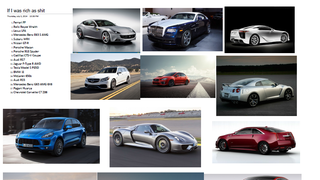 """List your """"Dream Car"""" collection"""