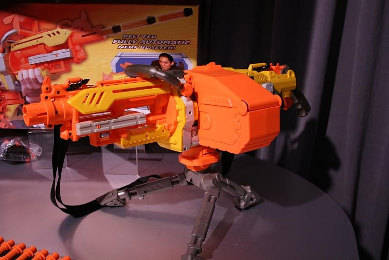 Hands On Enough Nerf Weaponry to Storm the Pentagon: Vulcan Mini-Gun, Hulk Rocket Launcher and Iron Man Repulsor