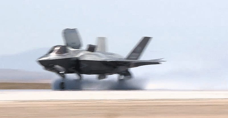 Phew! The F-35B Can Operate From Wet Runways & In Crosswinds