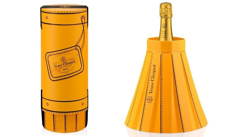 Veuve Clicquot's New Packaging Transforms Into Its Own Bottle Chiller