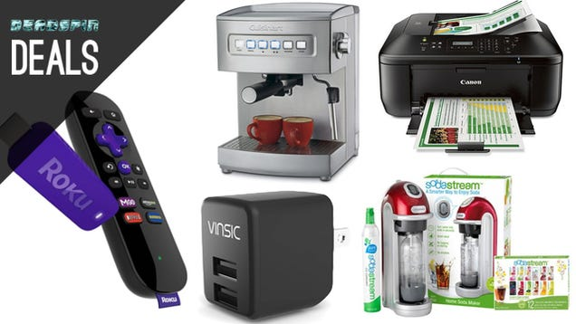 Deals: Huge SodaStream Savings, DIY Espresso, Wireless Printing, Roku