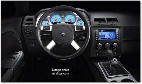 2008 Dodge Challenger SRT8 Official Interior Photos Sneak Into Exclusive Club Called The Internet