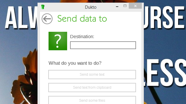 Dukto Shares Files, Text, and Clipboard Contents Between Computers
