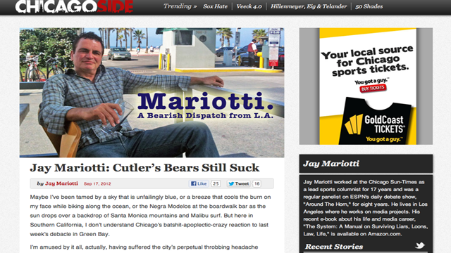 Jay Mariotti Is Maxin' And Relaxin' And Writing Shitty-Ass Columns Again