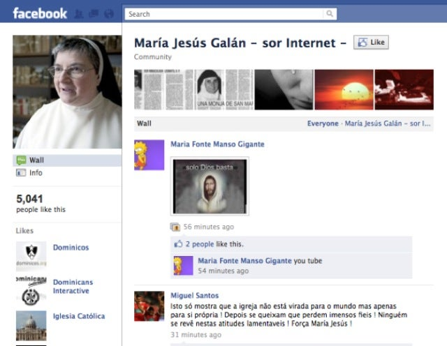 Spanish Convent Gives Facebook Savvy Nun the Boot