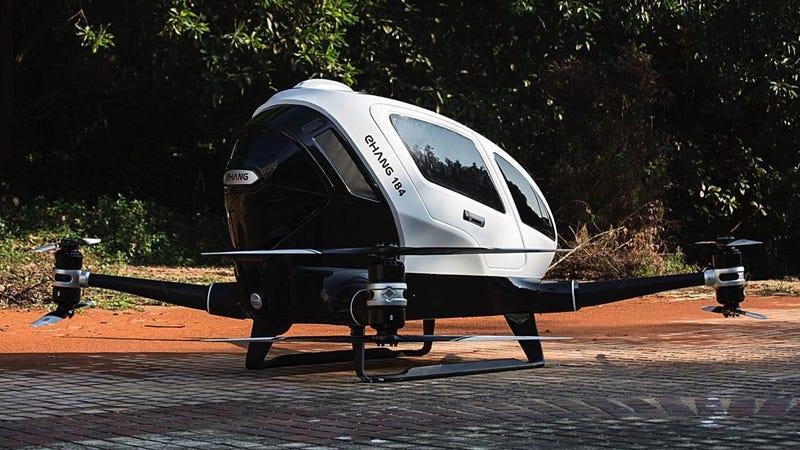 Pronto podrás volar en este alucinante dron autónomo de un pasajero (si tienes mucho dinero)