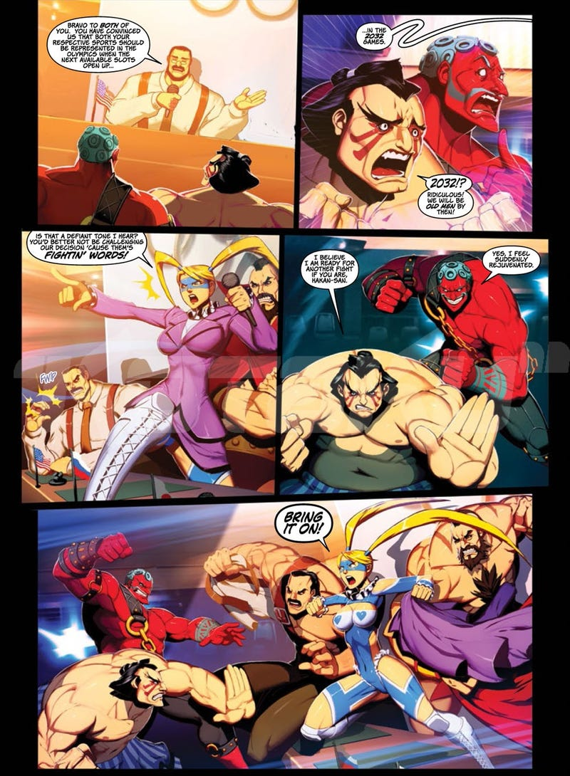 This New Super Street Fighter Graphic Novel from Udon Delivers a Greasy Battle Royale