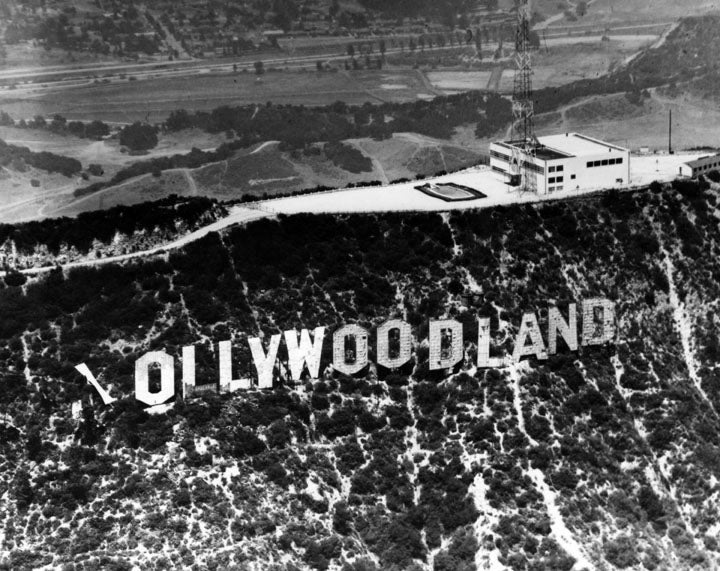 "The Hollywood Sign Originally Read ""HOLLYWOODLAND"""