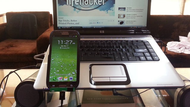 Smartphone Charging Stands, Traveling Light, and Hard Tile Floors