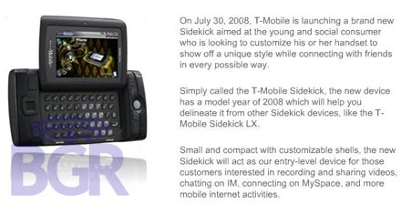 Sidekick 2008/Gekko Coming July 30th