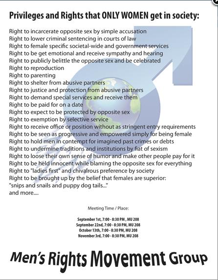 Campus Men's Rights Group Kicks, Screams