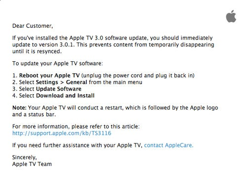"""Apple TV 3.01 Update Saves Your Data From """"Temporarily Disappearing"""""""