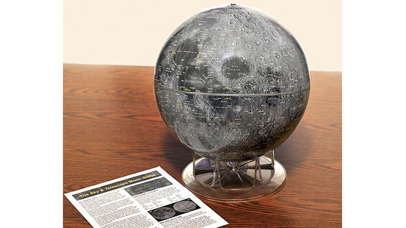 Don't Forget To Pack This Highly-Detailed Moon Globe For Your Next Lunar Vacation