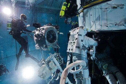 Filming Hubble Repair Practice, Underwater