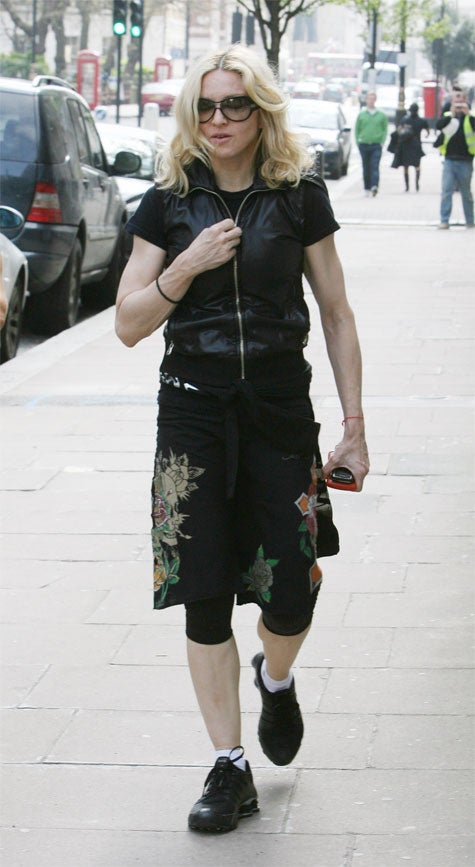 Madonna: All Buttoned Zippered Up