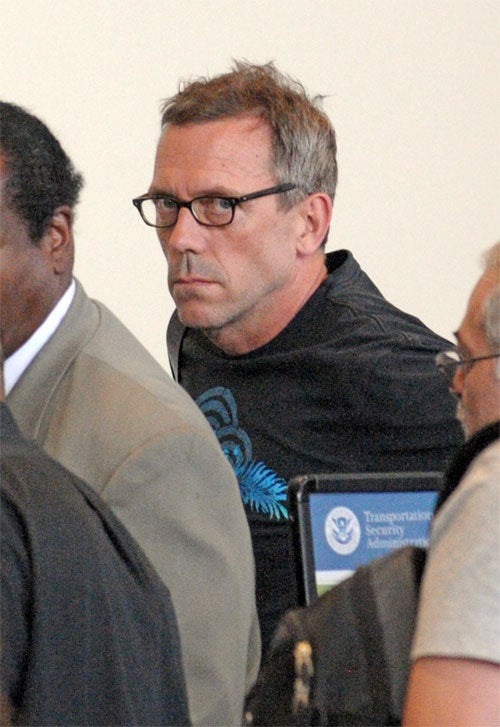 Transatlantic Travel Turns Hugh Laurie's Frown Upside Down