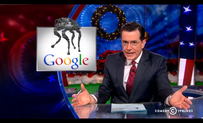 Stephen Colbert Knows Exactly How to Stop Google's Robot Army