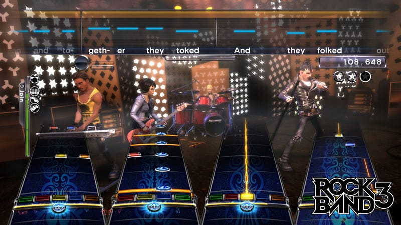 Rock Band 3 Screens