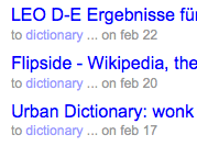 Use del.icio.us as a Personal Dictionary