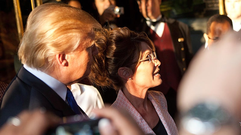 Palin, Trump Meet for Cruddy Pizza