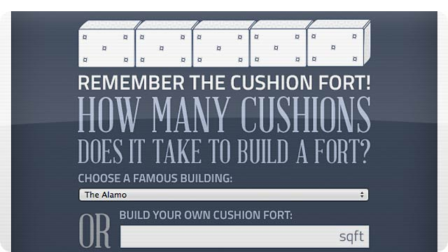 How Many Cushions Would You Need To Build the Ultimate Pillow Fort?