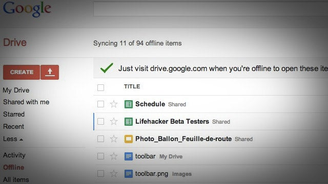 Google Drive Now Automatically Syncs Files for Offline Editing