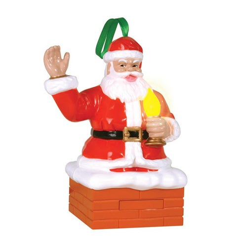 "Ornament Lets You ""Blow"" on Santa's ""Magic Candle"" to Turn Out Your Tree Lights"