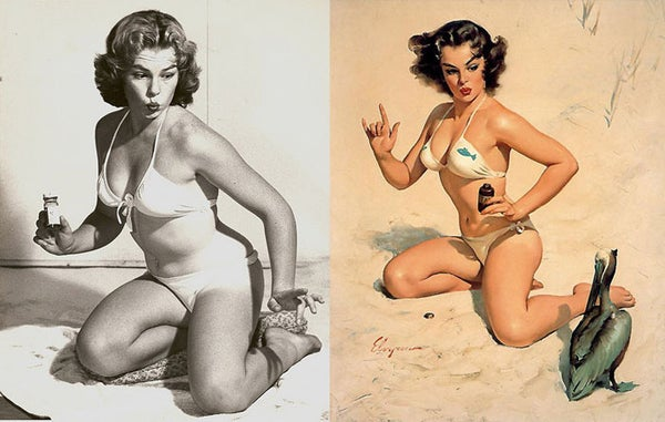 Even Classic Pin-Ups Were Retouched