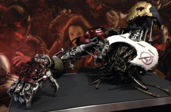Brand New Avengers 2 Props Reveal Ultron Mark One