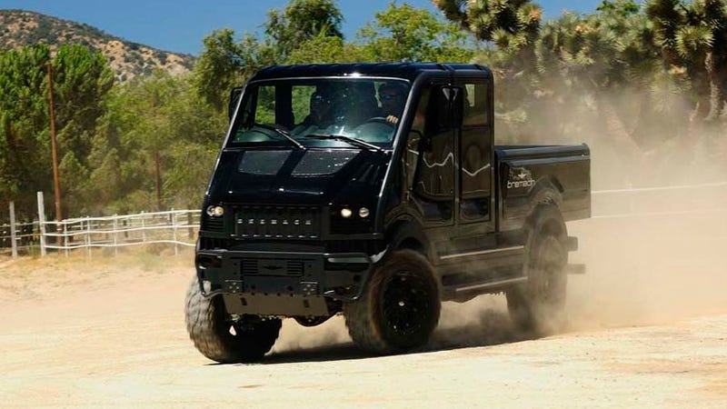 The Bremach T. Rex is like a Unimog, only electric
