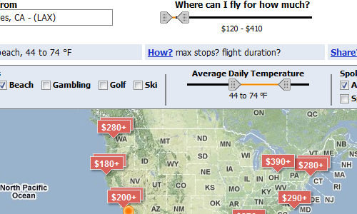 Kayak Explore Shows You Where You Can Fly for the Money in Your Budget (and More)