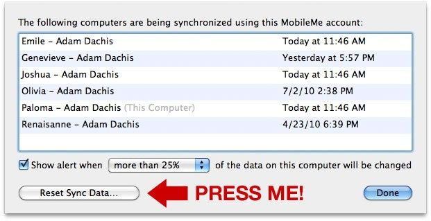 How to Fix MobileMe Sync When It Inevitably Screws Up