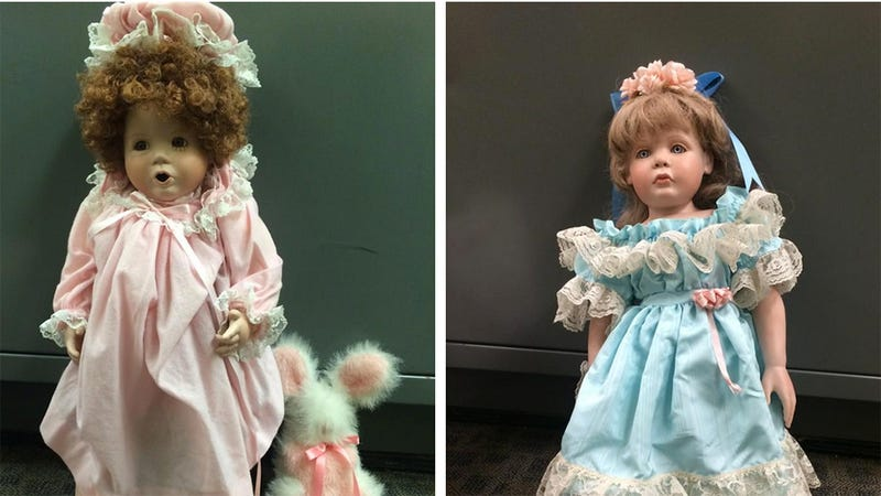 Creepy Porcelain Dolls Left in Front of Homes Where Little Girls Live