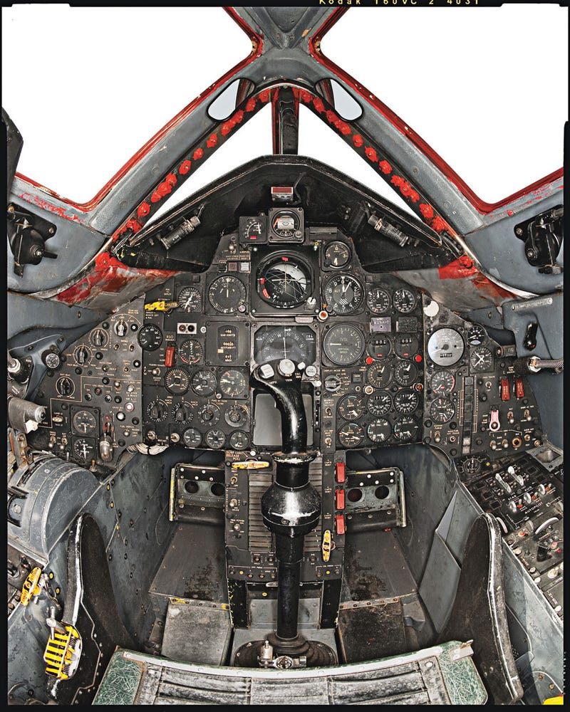 The SR-71 black bird has one of the craziest interiors of anything.