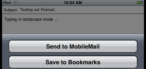 Firemail Brings Free Landscape Emailing to iPhone