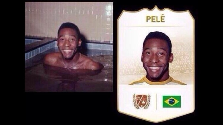 Yes, FIFA 14 Really Does Use a Picture of Pelé in a Hot Tub