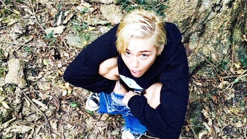 Miley Cyrus Peed On a Tree This Weekend