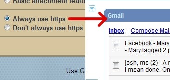 iGoogle Working with Secure Gmail Connections