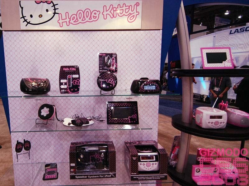 Hello Kitty Gallery and CES 2008 Booth Tour