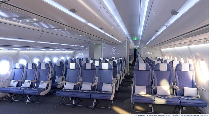 Near-Vertical Walls Make Airbus' New A350 Straight-Up Comfortable