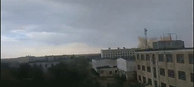 Watch This Russian Rocket Explode Resulting In A Massive Shockwave