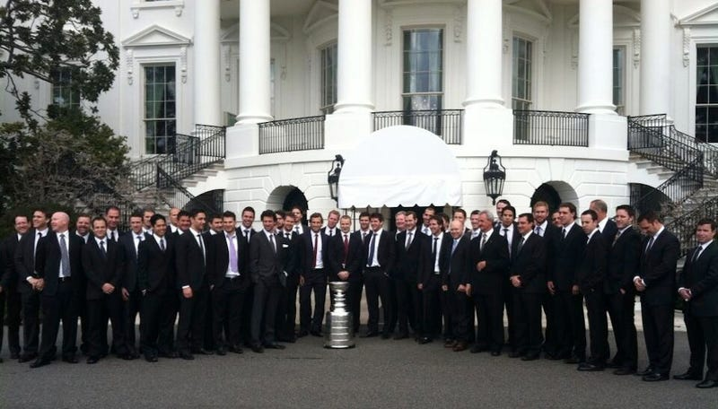 The LA Kings And LA Galaxy Have To Share A White House Visit
