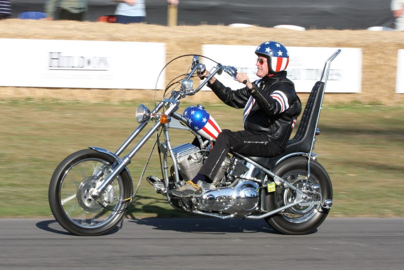 Before It Burned, Peter Fonda Rode Captain America at Goodwood