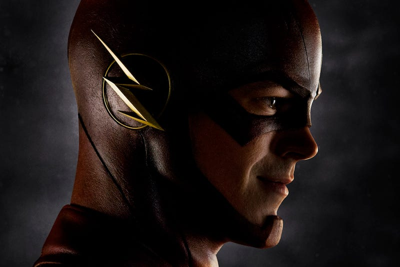 The TV's Flash is here, in uniform, and he looks PERFECT