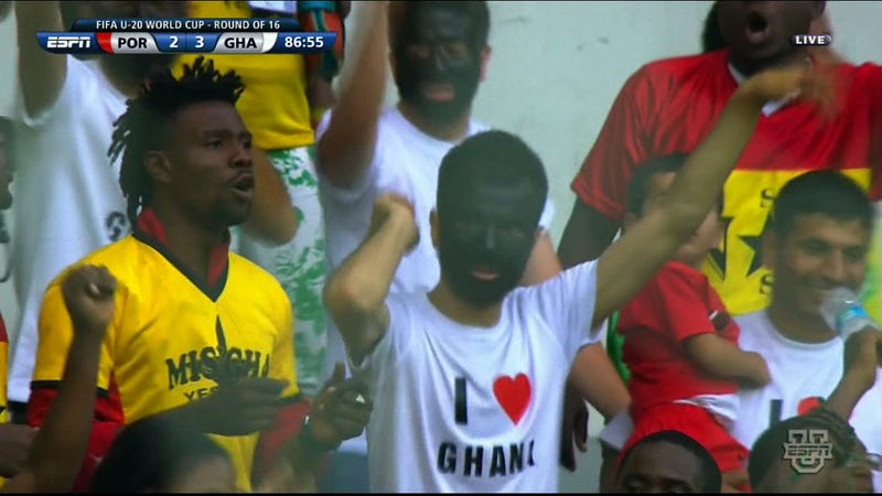 He's Showing His Love For Ghana By Wearing Blackface