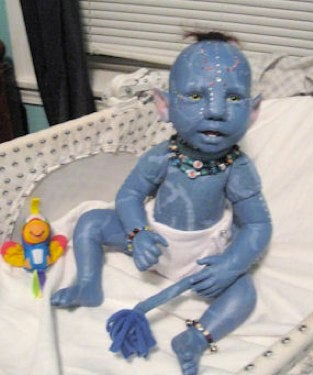 Hideous Avatar Baby is 50% human, 50% Na'vi, and 100% terrifying