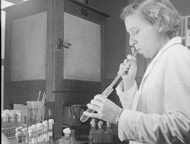 When Lab Scientists Used to Pipette with Their Mouths